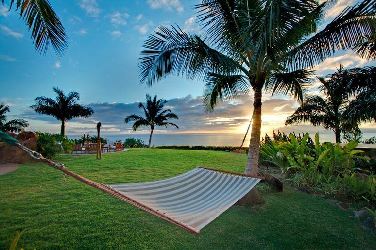 Hammock by the beach in Maui