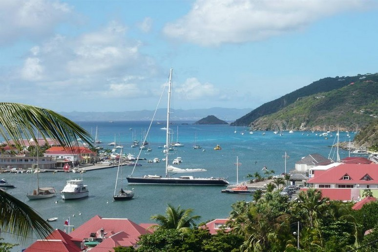 Yachts in the Bay at Colombier Beach