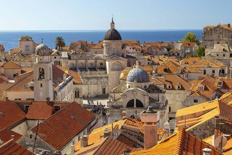 View of rooftops in Dubrovnik