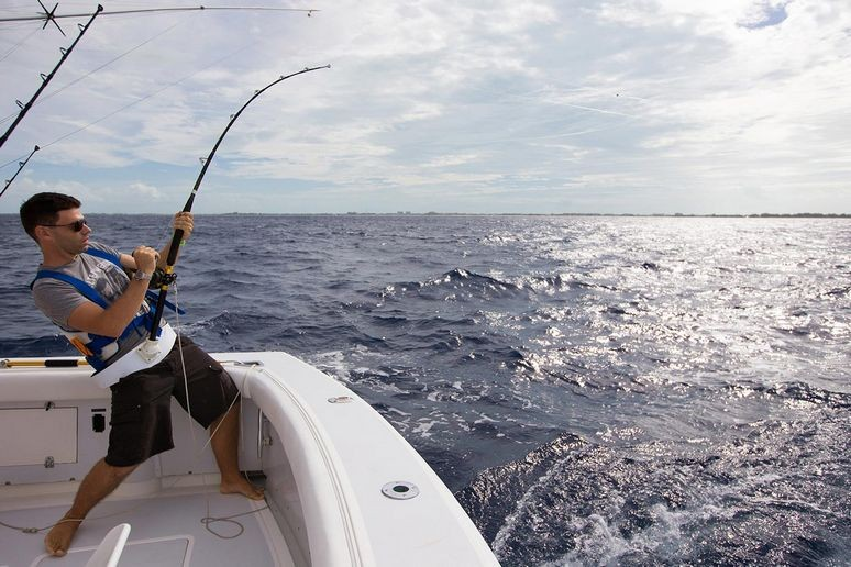 Deep sea fishing at grace bay in Turks and caicos