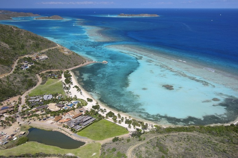 Aerial view of Oil Nut Bay Resort in Virgin Gorda