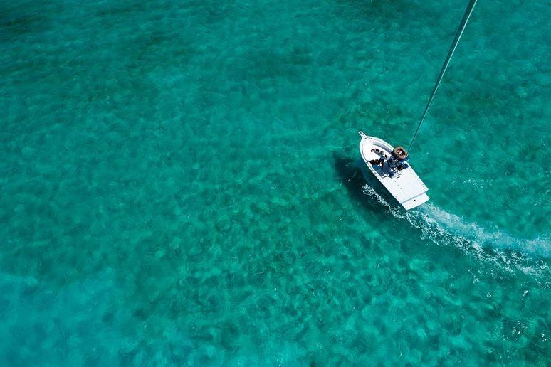 Parasailing Boat at Grace Bay