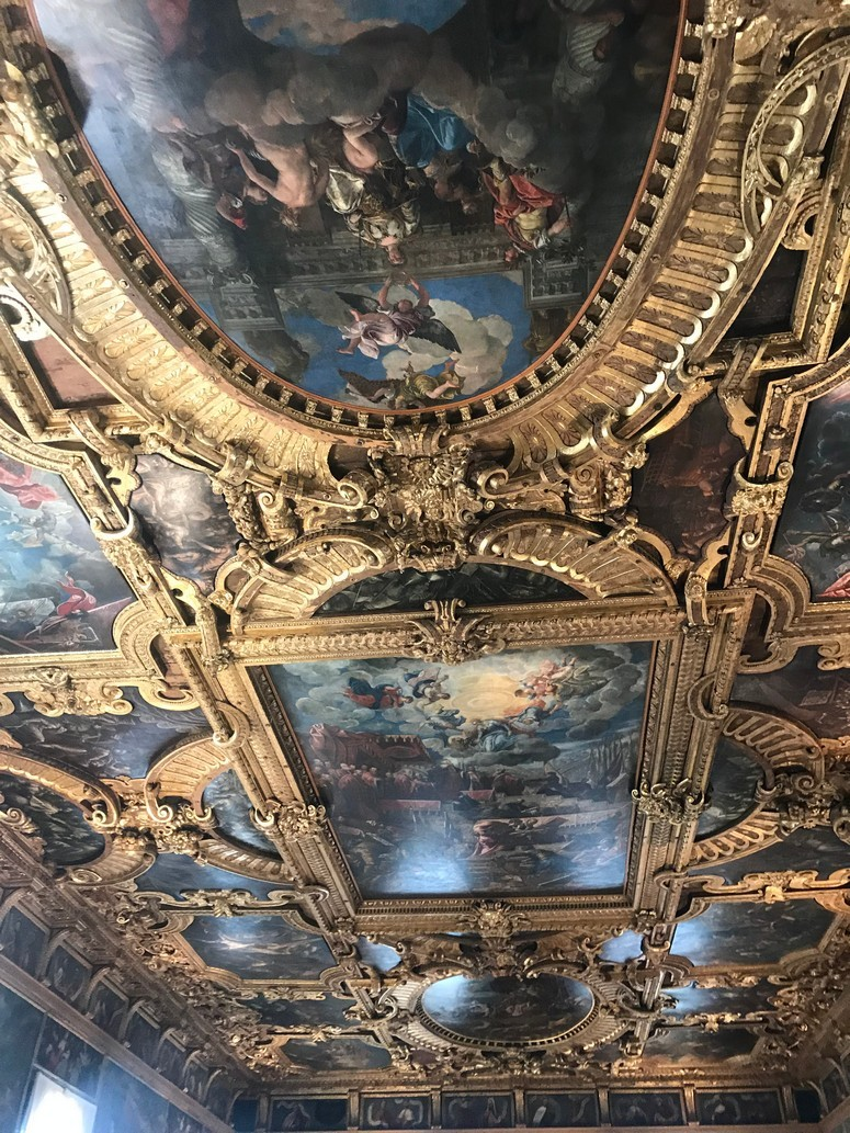 Beautifully painted ceiling fresco in Venice