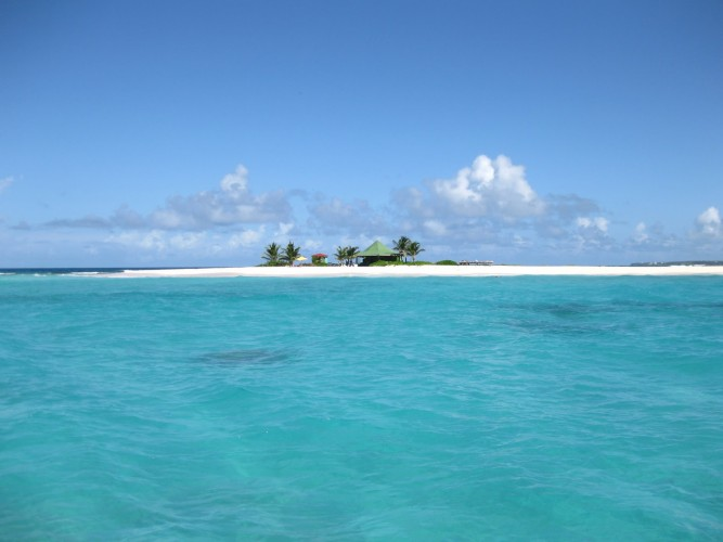 Sandy Island is a beautiful location off the Anguilla coast