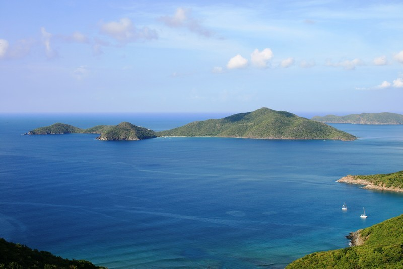 Lush tropical majesty bursting out of the sea - Guana Island at the British Virgin Islands