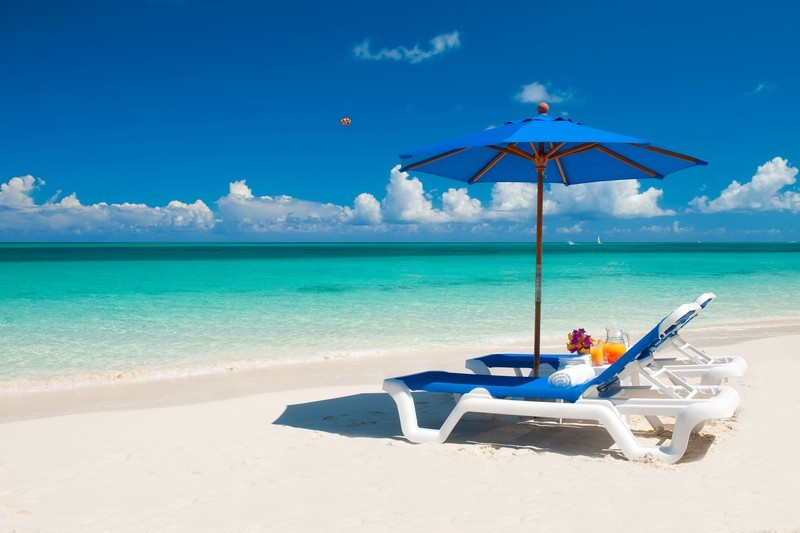 Powdery White sand beaches at Turks and Caicos