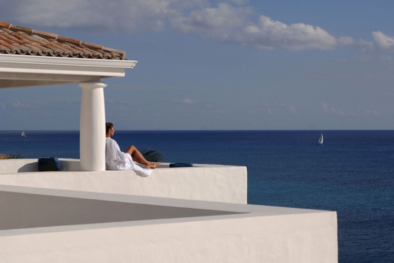 Gazing into the blue horizon from a luxury villa in St Martin