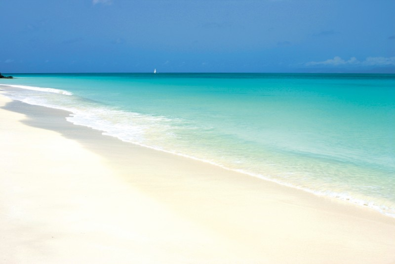 Tamarind Hills Antigua Rentals: A view of the horizon from the startlingly pretty Ffyes Beach