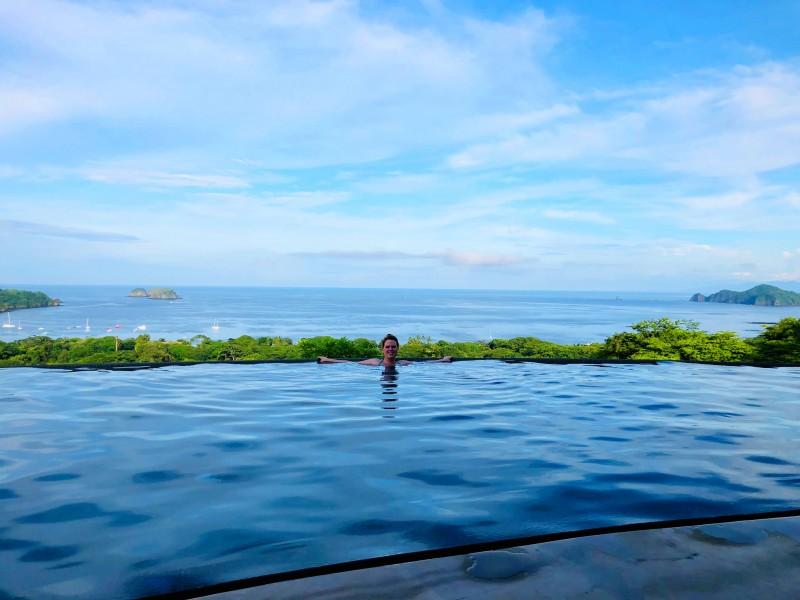 Linda swimming in the pool at Maravilla