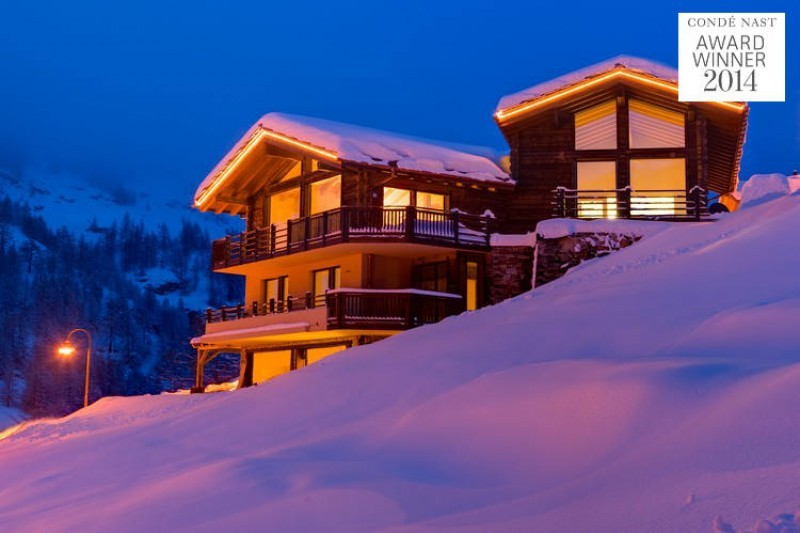 Chalet grace in Zermatt covered in snow