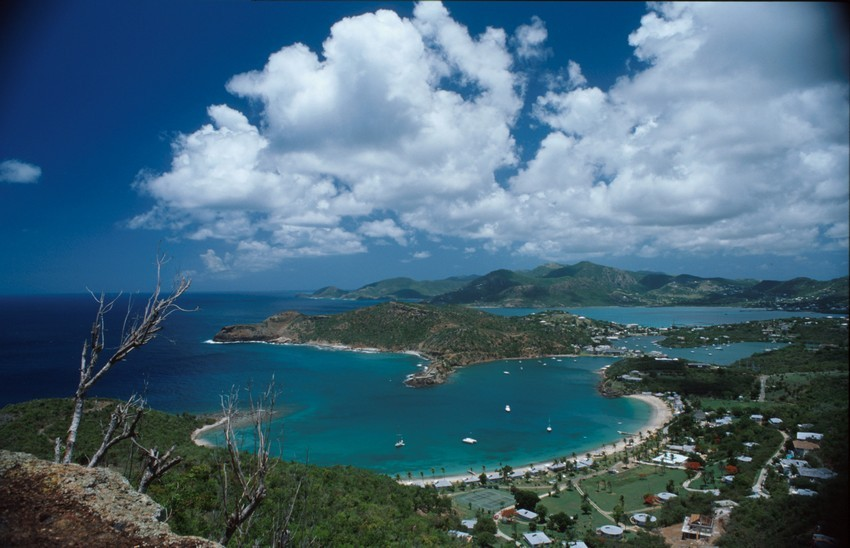 View of the landscape in Antigua