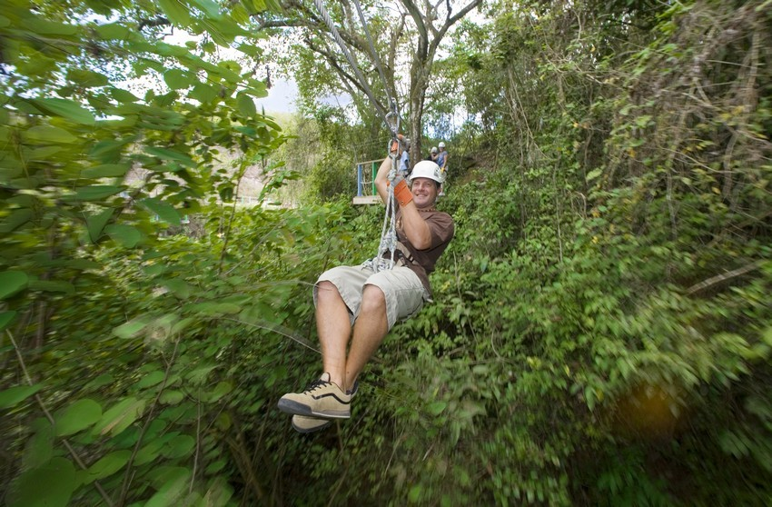 Ziplining in Antigua