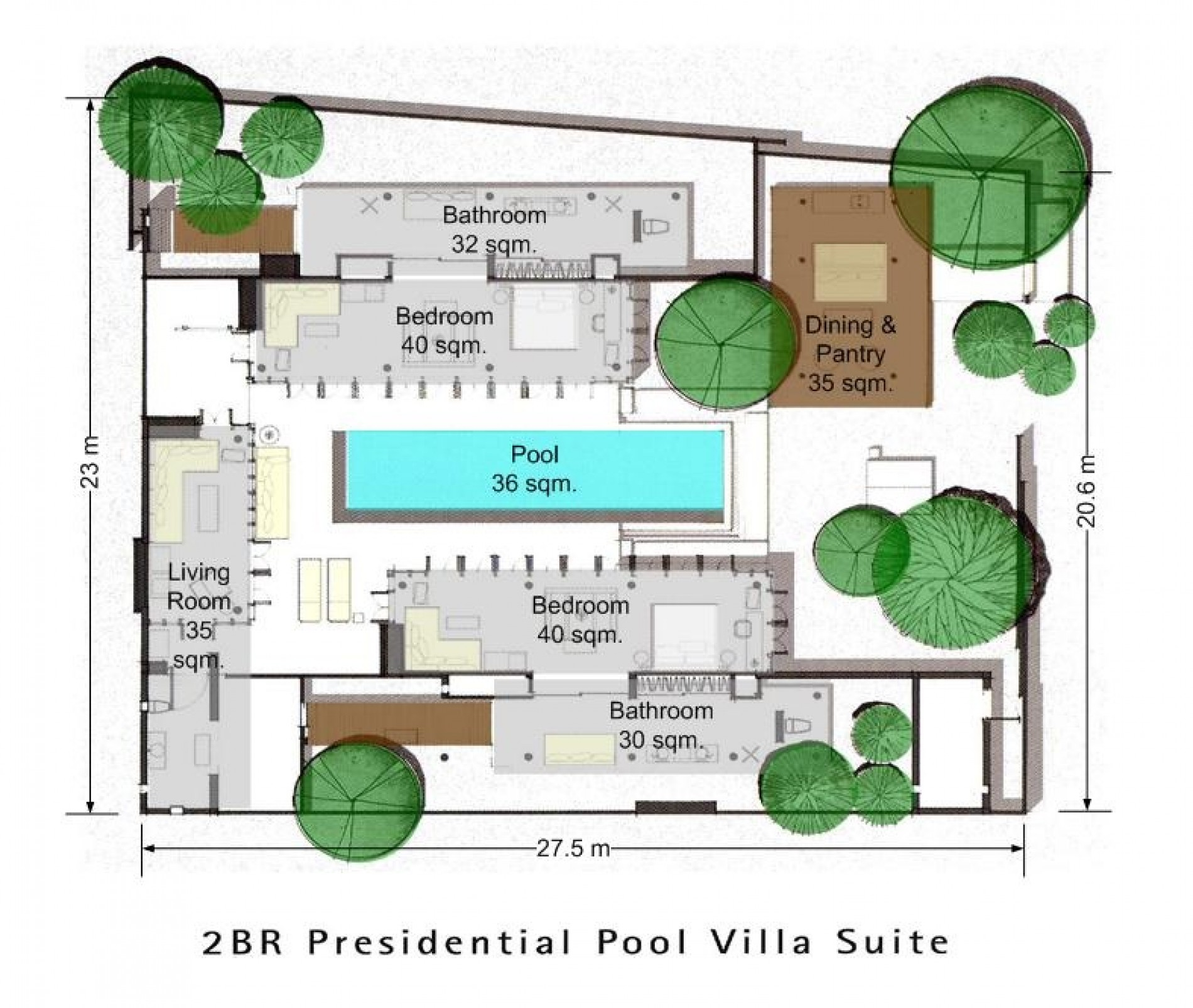Sala phuket presidential pool villa for Pool villa design
