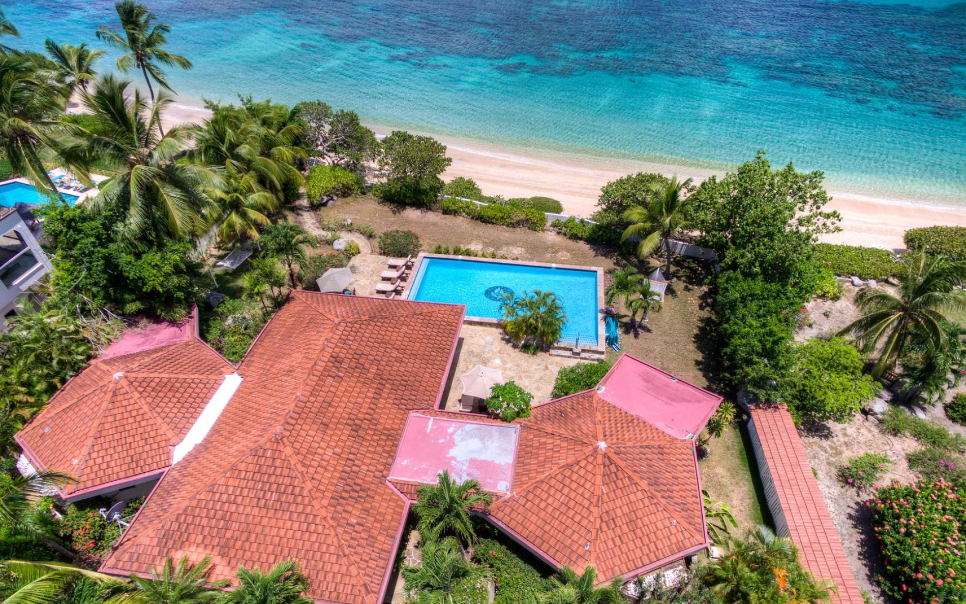Christmas In July 2019 Virgin Gorda.Sea Fans 4 Bedrooms Beachfront