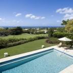 View of the Pool and surrounding countryside at Benjoli Breeze Villa Rebtal Barbados