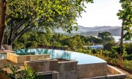 Infinity Pool overlooking the steaming green jungle from Casa Cameleon
