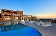 The pool at Villa Selena, Mykonos