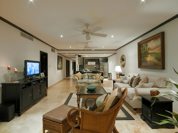 large living room at Coral Cove No.12 Luxury Beachfront Prop