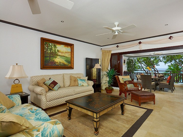 living room at Coral Cove No.12 Beachfront Apartment