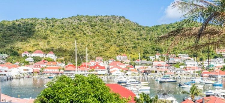Villa Privilege in St Barts view toward the Harbour