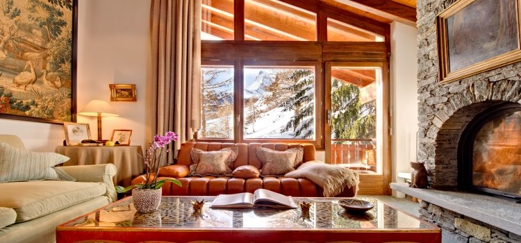 Chalet Zen -  Sitting Room with Fire