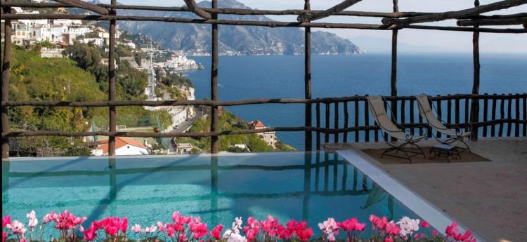 Tramonto Villa Amalfi Coast Italy - Pool View