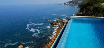 Enjoy views of the ocean from you private pool