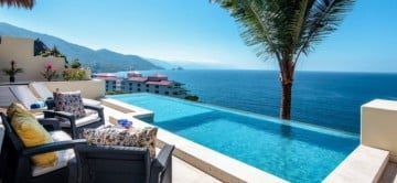 Enjoy stunning ocean views from your private pool