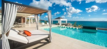 Sun Loungers and Sea View at Turtle Nest St Martin
