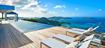 Villa Ginger St Barths - view from pool