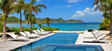 Palm Beach Villa - View from pool and beach