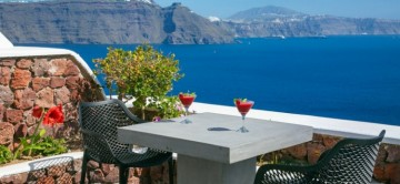 The terrace and amazing sea views of Aurora Grace