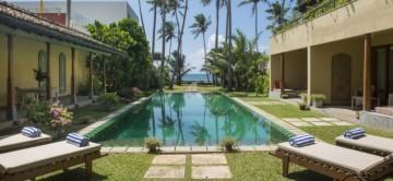 The pool and gardens at Cloisters Villa Sri Lanka
