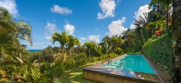 Hale O'Lalani, lap pool & lush surroundings with sea views