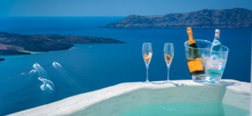 Beautiful views from the Junior Modernity Suite in Santorini
