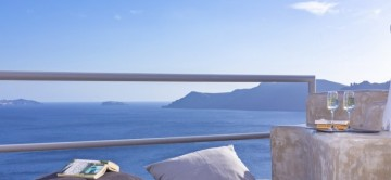 Beautiful sea views from the terrace of Secret Escape