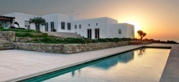 View of the pool and #Playhouse' at Villa Chloe, Mykonos