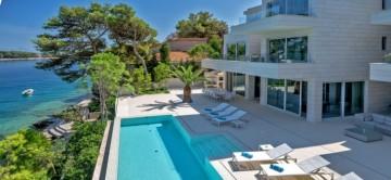 pool and terrace at Villa mila in Croatia