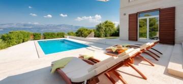 pool and terrace at Villa Splendida Brac Croatia